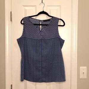 THE LIMITED | Blue tank blouse